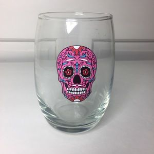 Other - Pink Skull Wine/drink glass. 12oz.
